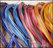 photo of dyed flax