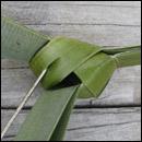 weaving a flax fantail step 15