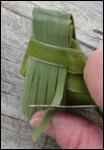 weaving a flax fantail step 23