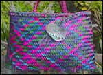 photo of coloured flax kete by Kerrin Taylor
